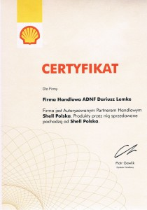 certyfikat shell